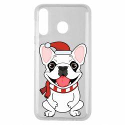 Чехол для Samsung M30 New Year's French Bulldog