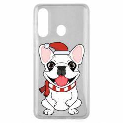 Чехол для Samsung M40 New Year's French Bulldog