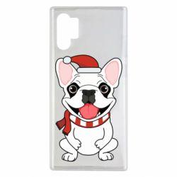 Чехол для Samsung Note 10 Plus New Year's French Bulldog