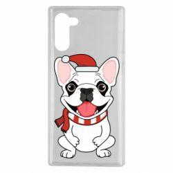 Чехол для Samsung Note 10 New Year's French Bulldog