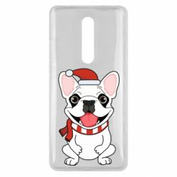 Чехол для Xiaomi Mi9T New Year's French Bulldog