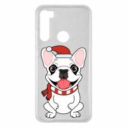 Чехол для Xiaomi Redmi Note 8 New Year's French Bulldog