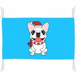 Флаг New Year's French Bulldog