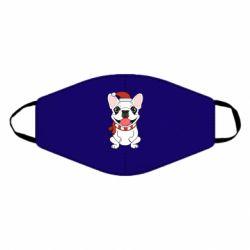 Маска для лица New Year's French Bulldog