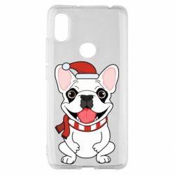 Чехол для Xiaomi Redmi S2 New Year's French Bulldog