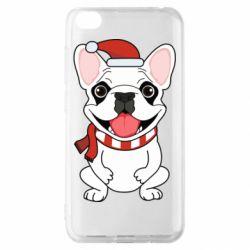 Чехол для Xiaomi Redmi Go New Year's French Bulldog