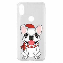 Чехол для Xiaomi Mi Play New Year's French Bulldog