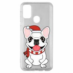 Чехол для Samsung M30s New Year's French Bulldog