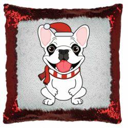 Подушка-хамелеон New Year's French Bulldog