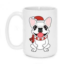 Кружка 420ml New Year's French Bulldog