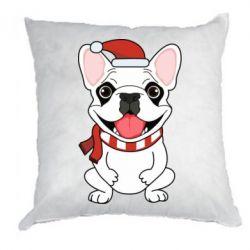Подушка New Year's French Bulldog