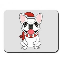 Коврик для мыши New Year's French Bulldog