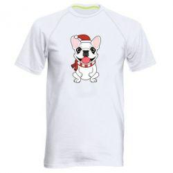 Мужская спортивная футболка New Year's French Bulldog