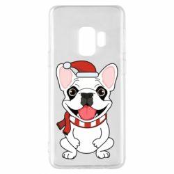 Чехол для Samsung S9 New Year's French Bulldog
