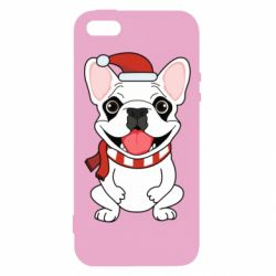 Чехол для iPhone5/5S/SE New Year's French Bulldog