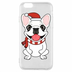 Чехол для iPhone 6/6S New Year's French Bulldog