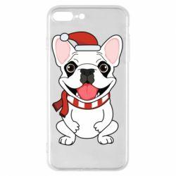 Чехол для iPhone 7 Plus New Year's French Bulldog