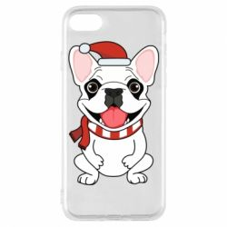 Чехол для iPhone 8 New Year's French Bulldog