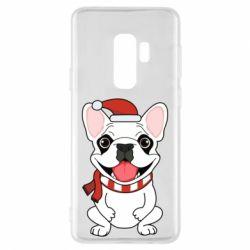 Чехол для Samsung S9+ New Year's French Bulldog