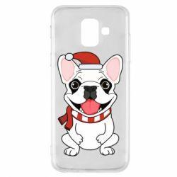 Чехол для Samsung A6 2018 New Year's French Bulldog