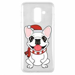 Чехол для Samsung A6+ 2018 New Year's French Bulldog