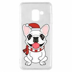 Чехол для Samsung A8 2018 New Year's French Bulldog