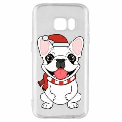 Чехол для Samsung S7 New Year's French Bulldog