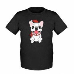 Детская футболка New Year's French Bulldog