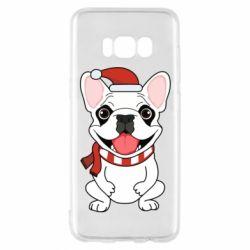 Чехол для Samsung S8 New Year's French Bulldog