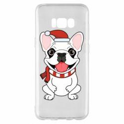 Чехол для Samsung S8+ New Year's French Bulldog