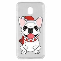 Чехол для Samsung J3 2017 New Year's French Bulldog