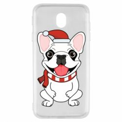 Чехол для Samsung J7 2017 New Year's French Bulldog