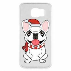 Чехол для Samsung S6 New Year's French Bulldog