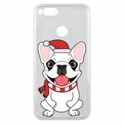 Чехол для Xiaomi Mi A1 New Year's French Bulldog
