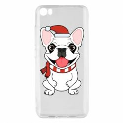 Чехол для Xiaomi Mi5/Mi5 Pro New Year's French Bulldog