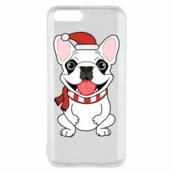 Чехол для Xiaomi Mi6 New Year's French Bulldog