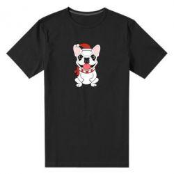Мужская стрейчевая футболка New Year's French Bulldog