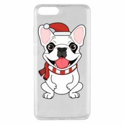 Чехол для Xiaomi Mi Note 3 New Year's French Bulldog
