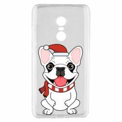 Чехол для Xiaomi Redmi Note 4 New Year's French Bulldog