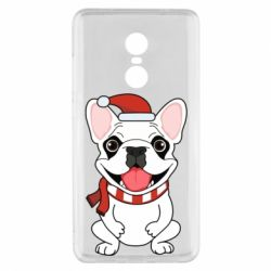 Чехол для Xiaomi Redmi Note 4x New Year's French Bulldog