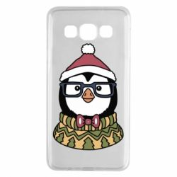 Чехол для Samsung A3 2015 New Year's Penguin