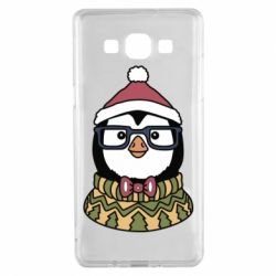 Чехол для Samsung A5 2015 New Year's Penguin