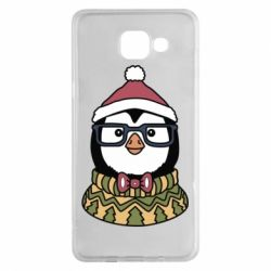 Чехол для Samsung A5 2016 New Year's Penguin
