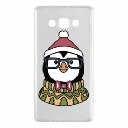 Чехол для Samsung A7 2015 New Year's Penguin