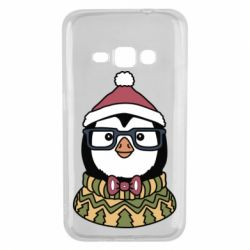 Чехол для Samsung J1 2016 New Year's Penguin