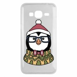 Чехол для Samsung J3 2016 New Year's Penguin