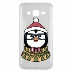 Чехол для Samsung J5 2015 New Year's Penguin