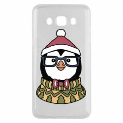 Чехол для Samsung J5 2016 New Year's Penguin
