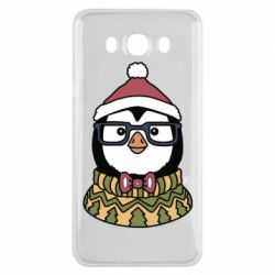 Чехол для Samsung J7 2016 New Year's Penguin