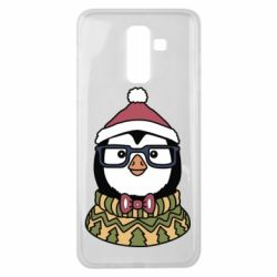 Чехол для Samsung J8 2018 New Year's Penguin